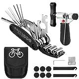 Wilxaw Kit de Herramientas de Reparación de Bicicletas, Conjunto de Herramientas Multifuncionales con Separador de Cadena Kit de Parche Palancas de Neumáticos