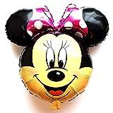 SauParty Non Elio Palloncino! Topolino Testa Disney Minnie Palloncini Foglio Viso Regalo, Forma : R35F10 Minnie Fucsia