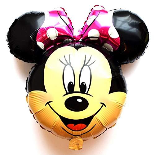 SauParty Kein Helium Ballon! Micky Maus Kopf Disney Minnie Folienballons Gesicht Geschenk, Form:R35F10 Minnie Pink