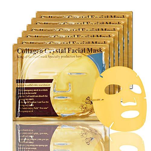 2020 NEW 5PCS 24K Gold Gel Collagen Facial Masks Elastic Beauty Face Mask...