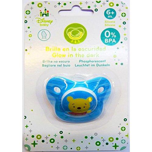 Sucette Anatomique De silicone Winnie Disney Baby Phosphorescent (brille dans le noir) * 6m+ 0% BPA Silicone * NEUF *