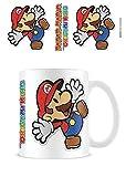 1art1 Super Mario - Paper Mario Sticker Taza Foto (9 x 8cm)