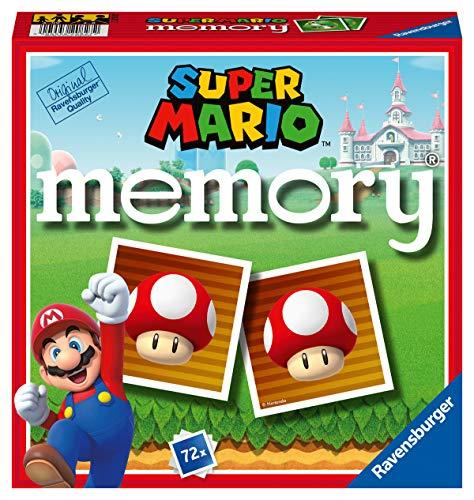 Ravensburger 20827 2 Memory Super Mario, Gioco Memory per Famiglie, Età Raccomandata 4+, 72 Tessere
