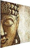 Impresión en cristal arte de pared – Vintage Buda – Cuadrado 1:1 impresión en...