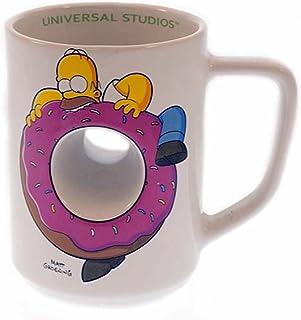 Exclusive Universal Studios The Simpsons Ride : Homer Simpson Doughnut Ceramic Coffee Cup Mug