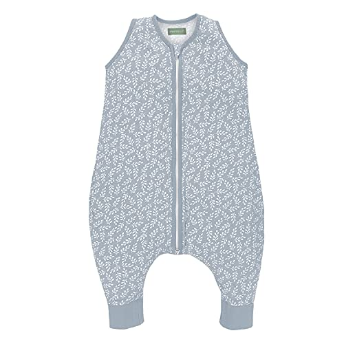 molis&co. Baby-Schlafsack mit Füßen. 0.5 TOG. Größe: 70 cm. Ideal für den Sommer. Blue Garden. 100% bilogischem Baumwolle (GOTS).