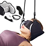 Portable Neck Head Hammock Cervical Traction Device for Neck Pain Relief Massage with Free Eye Mask