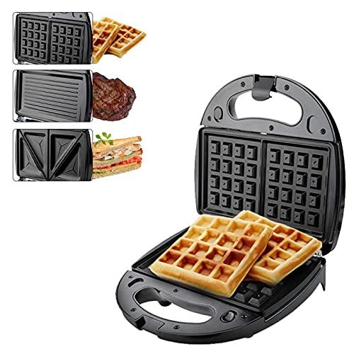 3-In-1 Waffle Maker , Detachable Non-Stick Sandwich Maker , Sandwich Grill Panini Press...