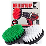 Drillstuff 4In 2 pezzi Quick Change, Soft e Medie Drillbrush verde, bianco