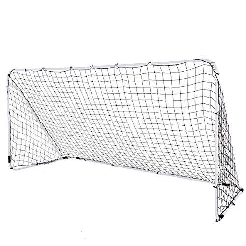 COSTWAY 3,6 x 1,8m Fußballtor aus Stahl für Spiele und Training von Kindern und Teenagern ab 6 Jahren, inkl. Tragetasche