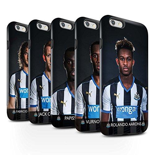 Ufficiale Newcastle United FC Custodia/Cover Lucidare Antiurto Caso/Cassa per Apple iPhone 6 stampata con il disegno NUFC Calciatore 15/16 / 25pcs Confezione