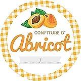 AVERY - Pochette de 64 étiquettes confitures d'abricot - Ø47,5 mm