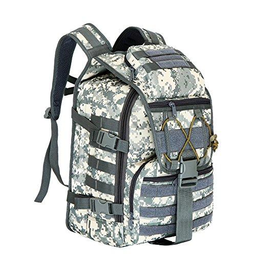 emansmoer Camo Militaire Armée Tactical Combat Outdoor Sac à Dos de Trekking Camping Randonnée Escalade Chasse Sac (ACU)
