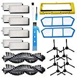 Theresa Hay Replacement Accessories kit for ILIFE A4s Robot Vacuum Cleaner Parts, Main Brush Hepa Filters Side...