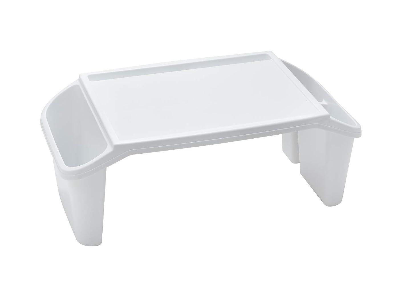 鮮やかなゆりかごテザー伊勢藤 キッズテーブル ホワイト 57.5×31.2×22.3cm チャイルドデスク +_日本製_すべり止め付 I-575