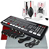 Blackmagic Design ATEM Mini Extreme 8-Channel Advanced Switcher with HDMI Live Streaming, 2 HDMI Outputs, 2 USB Ports, Headphone Connection, and More in Basic Bundle for Professionals