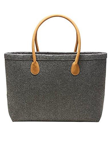 Halfar Shopper Classic Tasche Einkaufstasche Korb Beutel Einkaufsbeutel Einkaufskorb, Farbe:Anthracite, Größe:47.5 x 30 x 10 cm