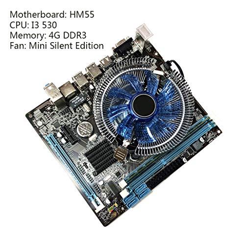 BIlinli 1 Unidades HM55 Placa Base de computadora I3 I5 Lga 1156 4G Memory Fan Desktop Mainboard