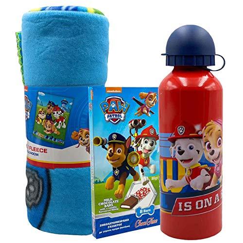 JT Paw Patrol - Set de regalo con manta y botella de agua