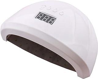 YJF-GLJ UV LED Nail Lamp 84W Secador de uñas Profesional para Todos los geles Se Adapta a ambas Manos o pies con 4 temporizadores, Sensor, Pantalla LCD, lámpara de Gel de 42 Perlas de curado,Blanco