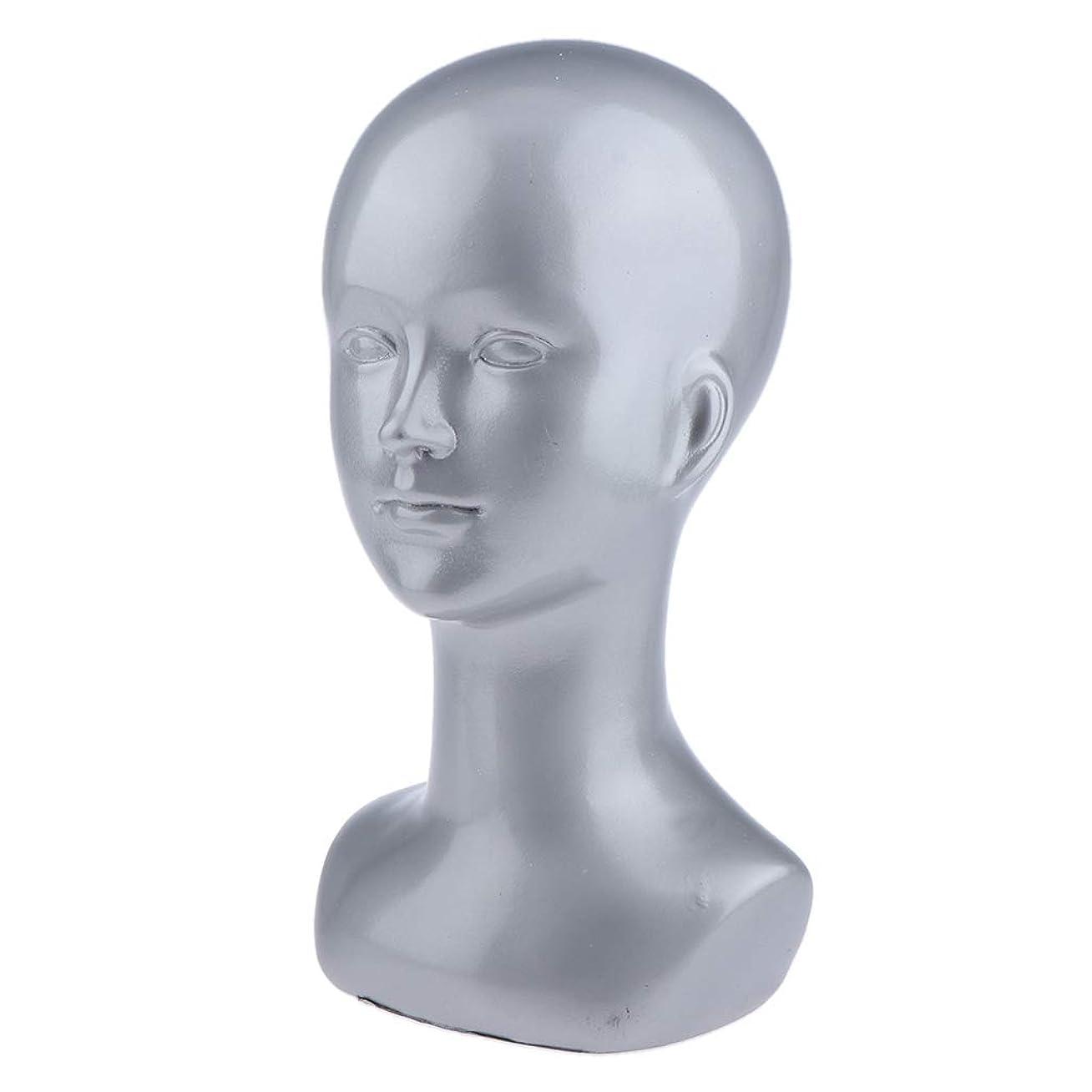 反抗伝統的一杯B Baosity マネキンヘッド 頭部 モデル ジュエリー 帽子 展示用 多目的 多色選べ - 銀