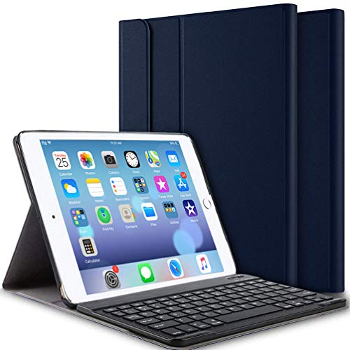 iPad Keyboard Case for iPad 9.7 Inch 2018 (6th Gen)/iPad 9.7 Inch 2017 (5th Gen)/iPad Pro 9.7 Inch/iPad Air 2/iPad Air 1, Ultra-Slim iPad Cover with Magnetically Detachable Wireless Keyboard - Blue