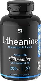 Suntheanine® L-Theanine 200mg (Double-Strength) in Cold-Pressed Organic Coconut Oil; Non-GMO & Gluten Free - 60 Liquid Sof...