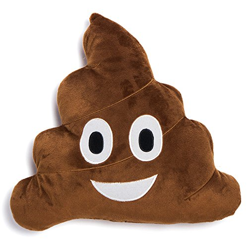 Steezys Emoji Pillow 12' Poop