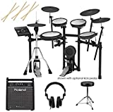 Roland TD-17KVX V-Drums Electronic Drum Set - With Roland PM-100 80W Personal...