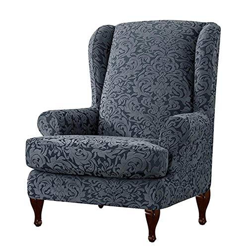 decaden 2PCS Sofabezug Stretch,Ohrensessel Überzug Bezug Sesselhusse Elastisch Stretch Husse,Ohrensesselbezüge Armlehnstuhlbezüge Elastische Stretch-Schonbezüge (ohne Stühle)
