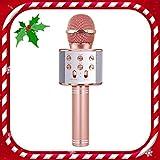 TICE Microphone sans Fil pour Filles karaoké, 8-12 Ans Fille Jouet Cadeau 6-10 Ans Fille Enfant Chantant Microphone 5-11 Ans...