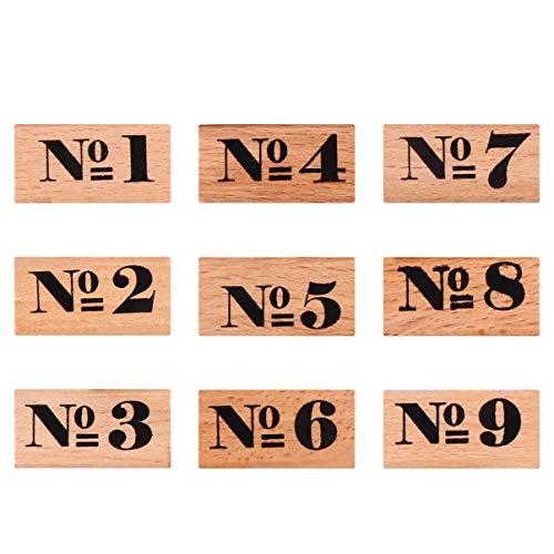 Exceart Houten Rubberen Nummer Gecodeerde Alfabet Stempels Vintage Houten Rubberen Letter Nummer Symbool Voor Het Maken Van Kaarten Schilderen 9St