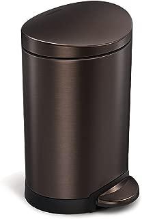 simplehuman Semi-Round Step Trash Can, Dark Bronze