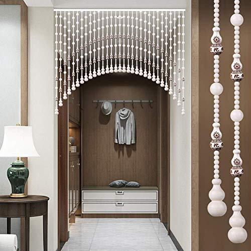 AZYQ Holz Perlen Vorhänge für Türen/Schränke Home Decoration Partition für Raumteiler, Holz Perlen Vorhang, der viel Glück bringt (21/25/31/35/41/45/51/55/61 Stränge),60-80 cm / 24 '- 31'