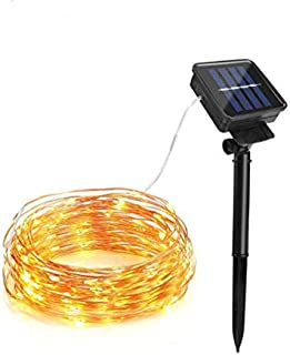HJZYYSGYQ 20m 200led Copper Wire SMD 0603 Ni-MH 1AA 1800mah 1.2v Battery 8 Moding Outdoor, Gardens, Homes, Dancing, Christmas Party Solar String Light