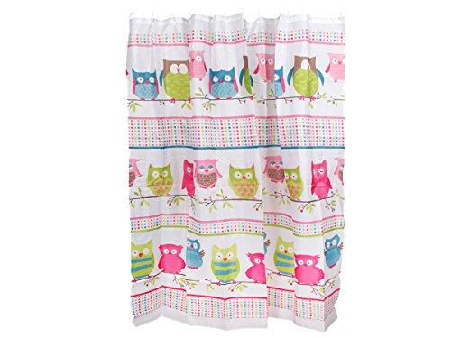 Alsino Duschvorhang Eule 180cm x 180cm Help me Duschabtrennung Textil Badewannenvorhang, Variante wählen:190401 Eule