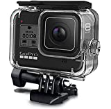 MAXKU Carcasa impermeable para cámara GoPro Hero 8 Black Action accesorios, resistente al agua 60 m, con pinza de montaje rápido, accesorios para GoPro Hero8 Black