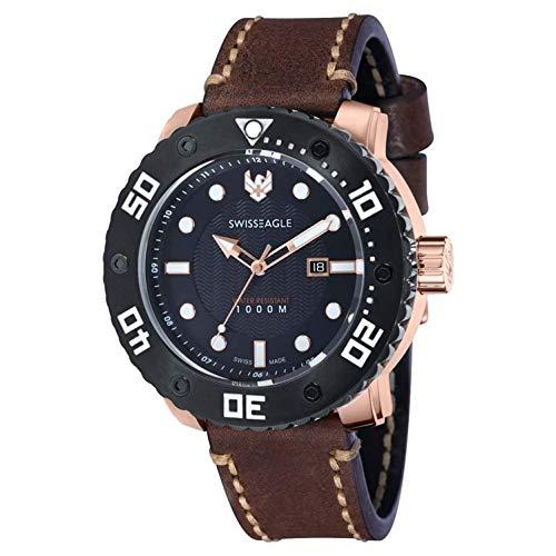 Swiss Eagle Reloj de Cuarzo Abyss Marrón 54 mm