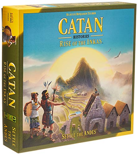 CATAN Histories: Rise of The Inkas Board Game | Family Board Game | Board Game for Adults and Family | Adventure Board Game | Ages 12+ | for 3 to 4 Players | Made by Catan Studio