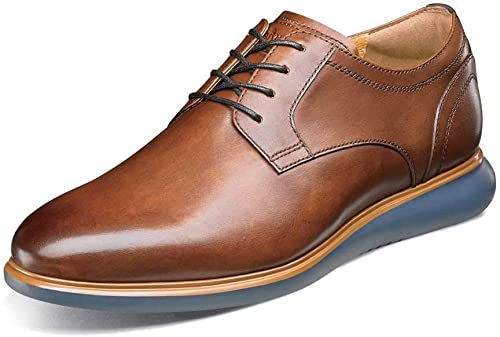 Florsheim Hommes's Fuel Plain Toe Oxford Cognac Navy Sole 10.5 M US M (D)