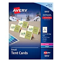 Avery Small Ivory Tent Cards, Laser/Inkjet Printers, 5.1cm x 8.9cm, Pack of 160 (5913)