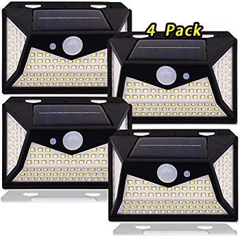 4-Pack Vankada Motion Sensor Waterproof 3 Lighting Modes Solar Lights