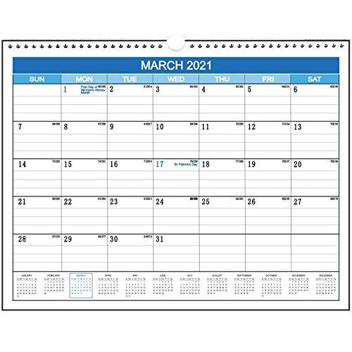 2021 Wall Calendar Planner Family Planner from Jan 2021 to December 2021, 12 Month Calendar 295mm*380mm