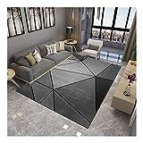 La alfombra Geométrica área Informal Moderna Comedor Abstracta fácil de Limpiar HAODAMAI (Color : A, Size : 80x120cm)
