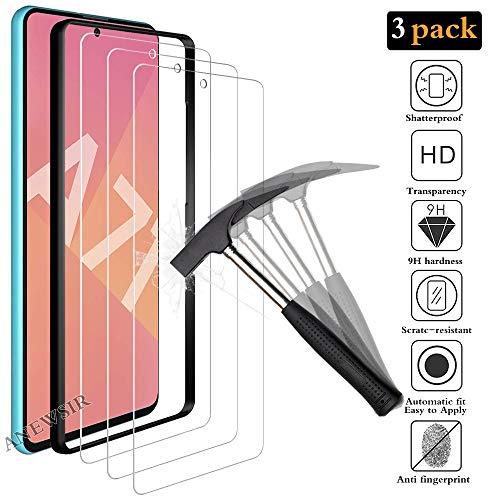 ANEWSIR Schutzfolie für Samsung Galaxy A71/A71 5G Panzerglas, [3 Stück], 9H Härte Panzerglasfolie, Anti-Bläschen, Anti-Kratzen, Displayschutz Schutzfolie Folie für Galaxy A71/A71 5G