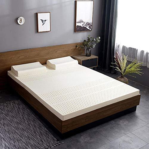 PLOLLD 3 Pulgadas de látex Natural colchón, Hotel Premium Futon Mattress Topper 100% Natural Latex Anti-ácaros colchoneta Floor (Size : Queen-150×200cm)
