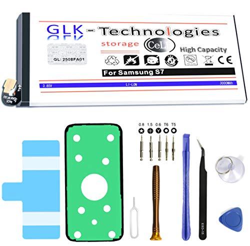 High Power Ersatzakku für Samsung Galaxy S7 SM-G930F | Original GLK-Technologies Battery | accu | 3000 mAh Akku | inkl. Werkzeug Set Kit