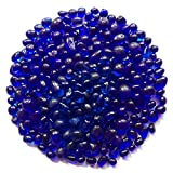WAYBER Glass Stones, 1Lb/460g Irregular Sea Glass Pebbles Non-Toxic Artificial Gemstones f...