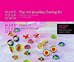 Earring Jewelry Making Craft Kit. Instructions and Video Tutorials (Art Nouveau)