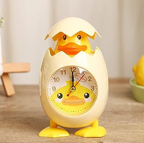 URbeauty 1PCS Fashion Cute Cartoon Chicken Egg Shell Desktop Clock Alarm Clock For Children Gift Home Decor Yellow